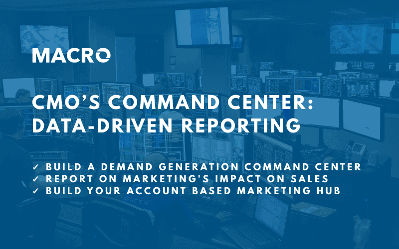 CMO's Reporting Command Center