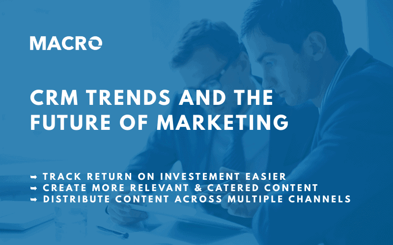 CRM Trends and the Future of Marketing Blog image