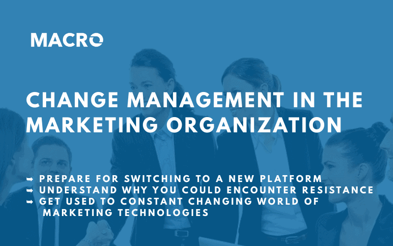 How Marketing Operations can lead the change management