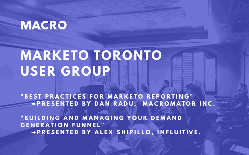 Marketo Toronto User Group – Nov 10, 2015 at 6:00 PM