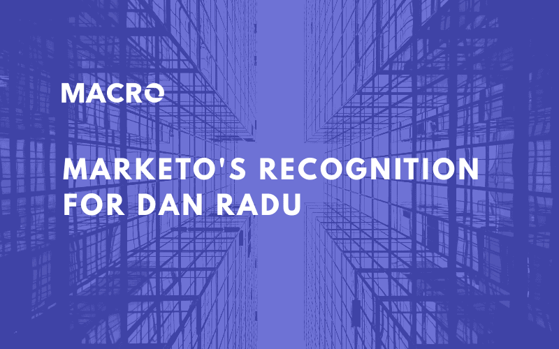 Marketo's Recognition for Dan Radu