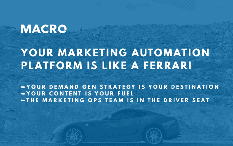 Your Marketing Automation Platform Is Like a Ferrari